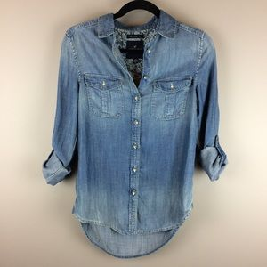 Tops - American Eagle Denim look button up shirt
